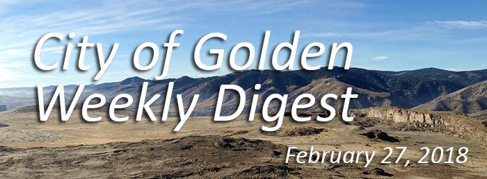 Weekly Digest - February 27, 2018