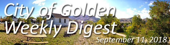 Weekly Digest Sept. 11 2018