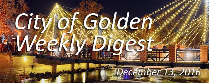Weekly Digest - December 13, 2016
