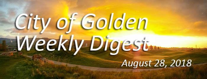 Weekly Digest August 28 2018