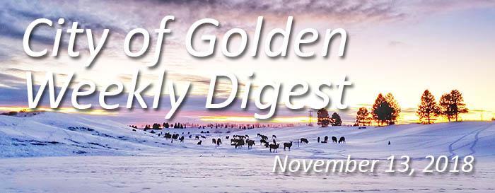 Weekly Digest November 13 2018