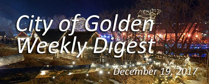 Weekly Digest - December 19, 2017
