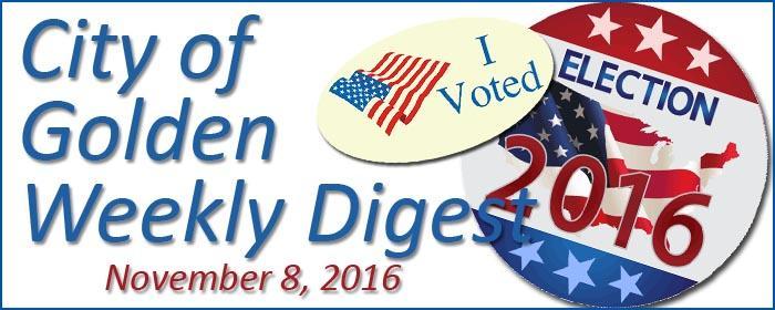 Weekly Digest, Nov. 8, 2016