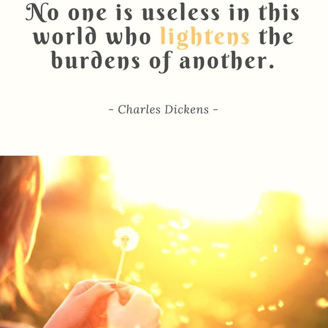 Let us lighten another's burdens