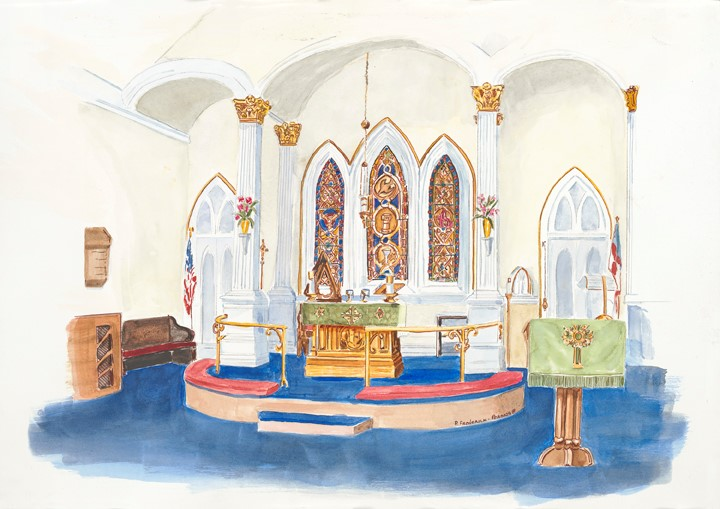 St Peter's Altar by Pat Frederick-perona