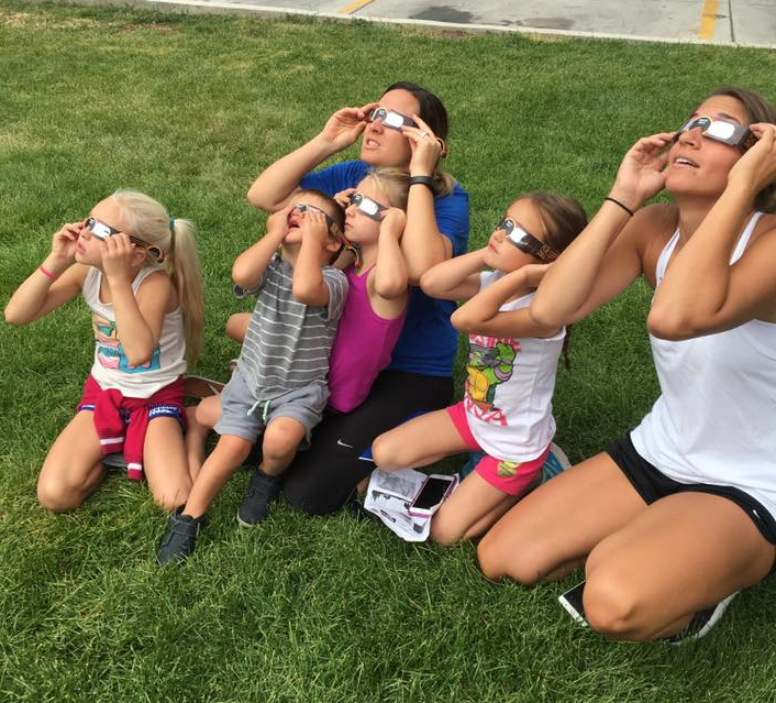 Eclipse watching on Valley Campus image
