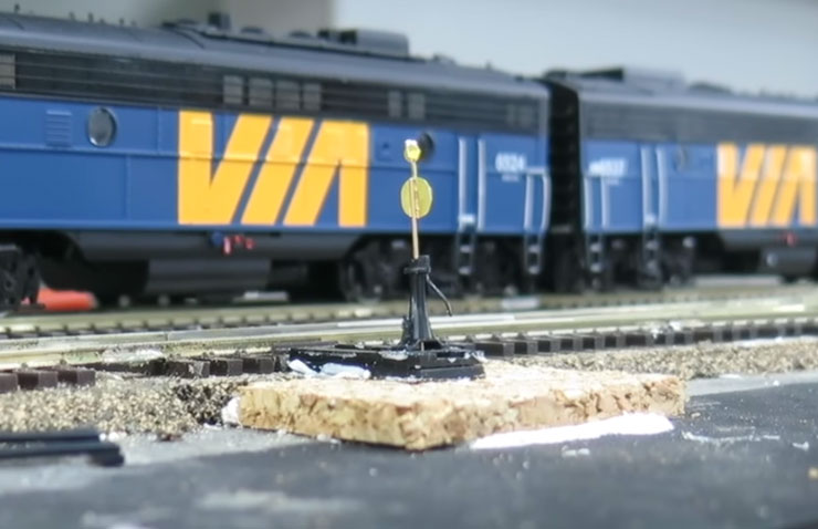 HO scale switch stand