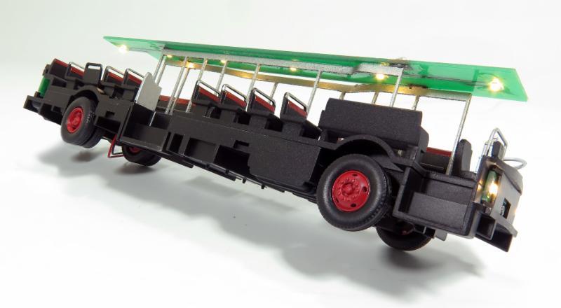 Interior of bus model