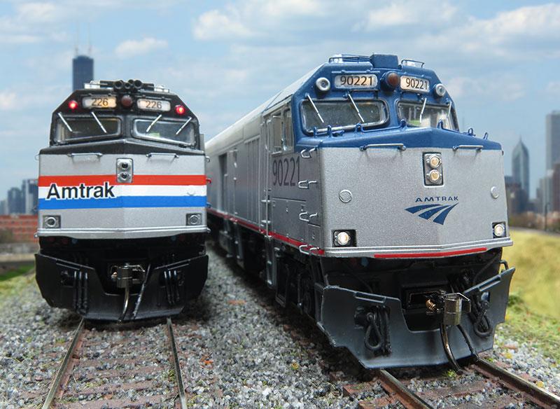 Amtrak F40 Cabbage