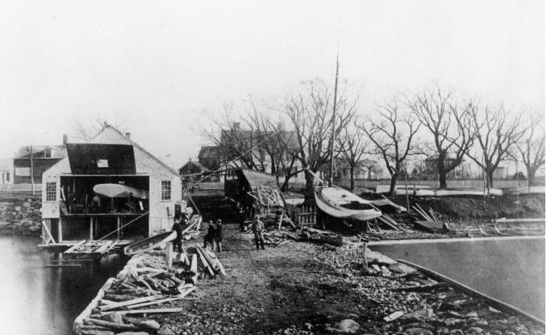 The Tannery in 1866. Site of John Brown Herreshoff_s Boat shop