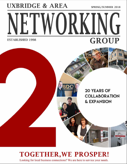 2018 Spring_Summer Uxbridge Netwokring Magazine