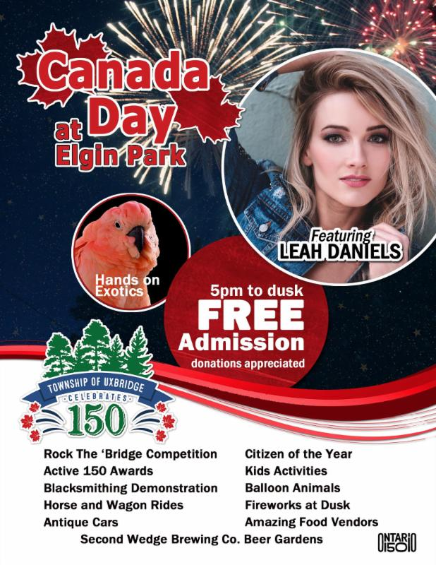Canada Day at Elgin Park featuring Leah Daniels