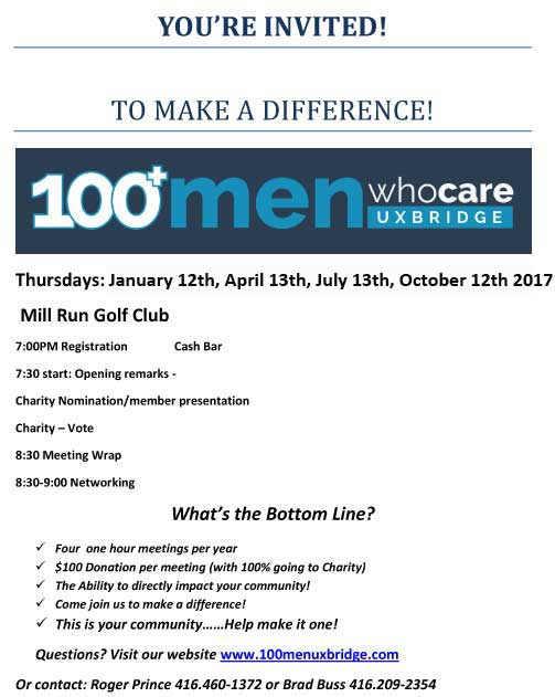 100 Men Who Care Uxbridge