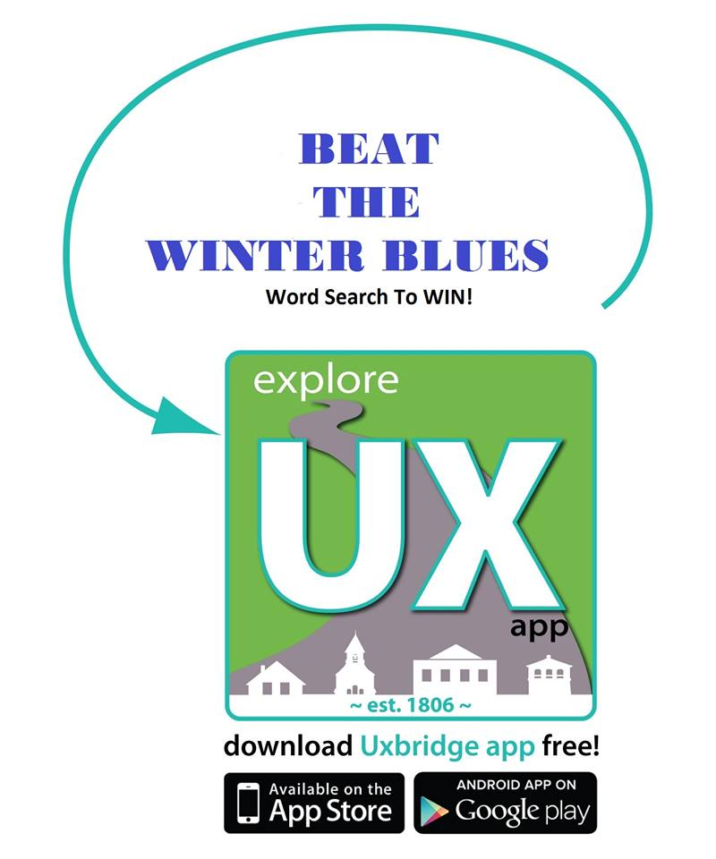 Word Search Contest at Uxbridge App