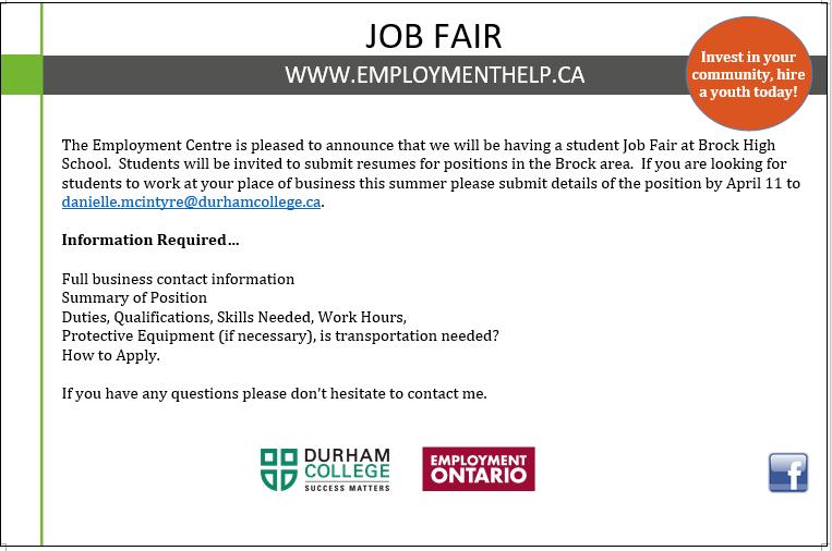 Durham College Employment Services Job Fair