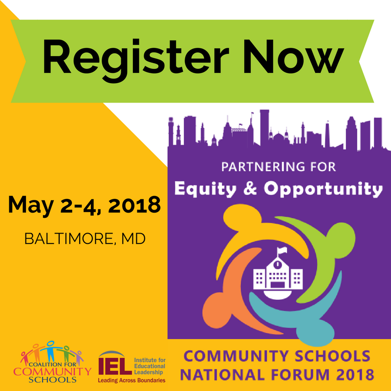 Register Now May 2-4 Community Schools National Forum