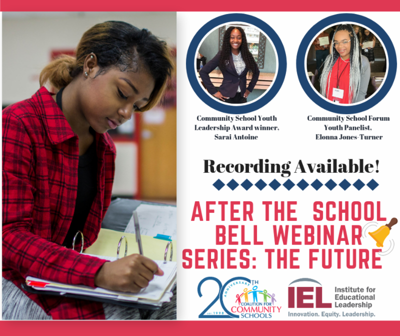 After the school bell webinar the future recording available Sarai antoine and Elonna Jones-Turner Recording Available