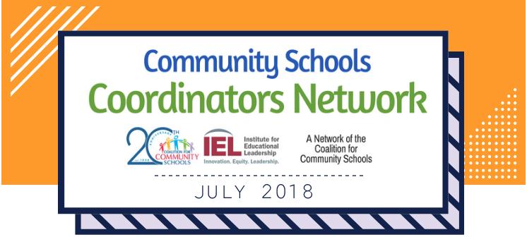 Community School Coordinators Network July 2018