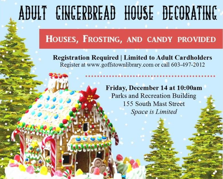 Adults can have fun too, decorating gingerbread houses.