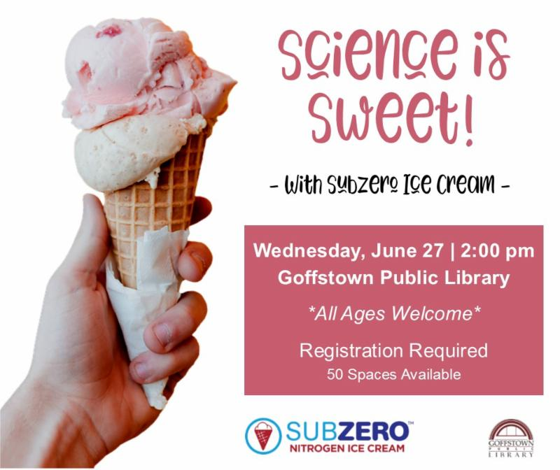 Science is Sweet Ice Cream event at the GPL