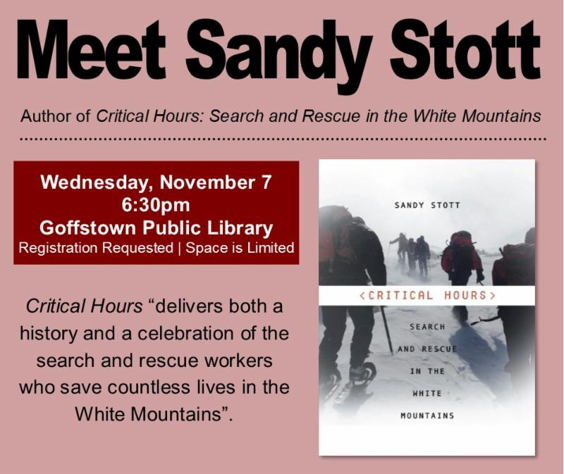 Meet Author Sandy Stott at the Library