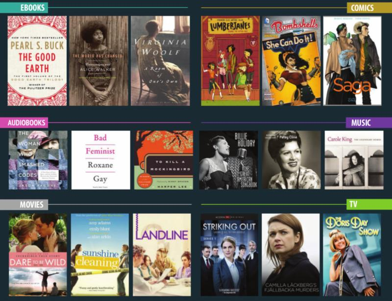 Celebrate Women's History Month with titles that showcase influential women in music, film, and literature.