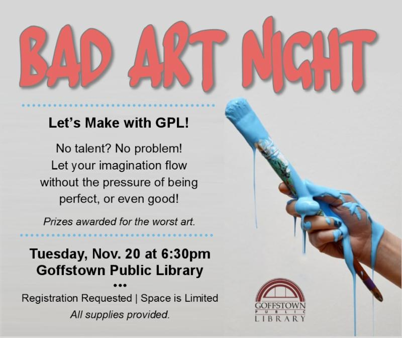 Bad Art Night event at the Library - everyone can be creative!