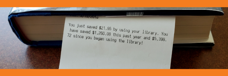 This library card user just saved $21.95 today, and $1,260.08 YTD!