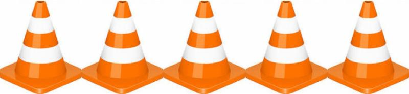 traffic cones border