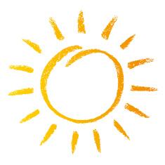 yellow crayon sun