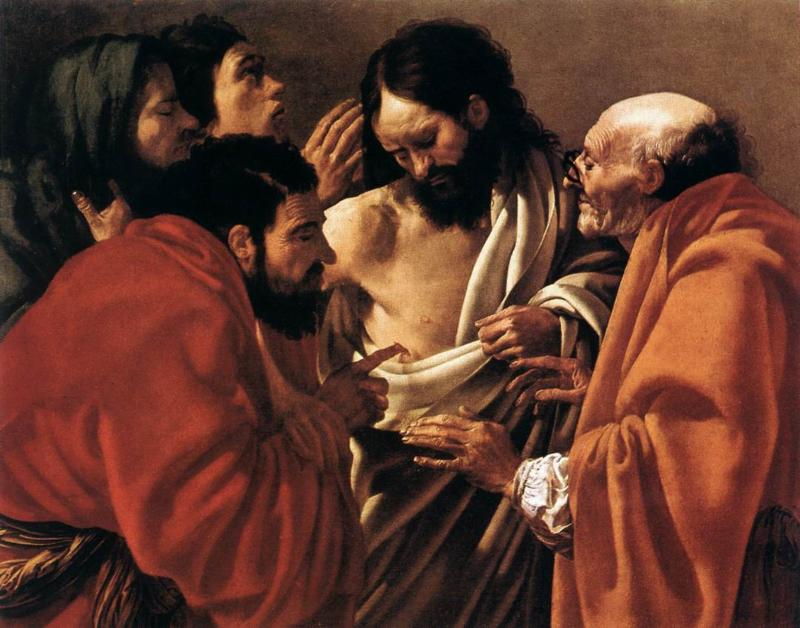 Incredulity of Saint Thomas By Hendrick ter Brugghen