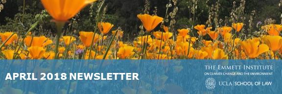 Emmett Institute April 2018 Newsletter