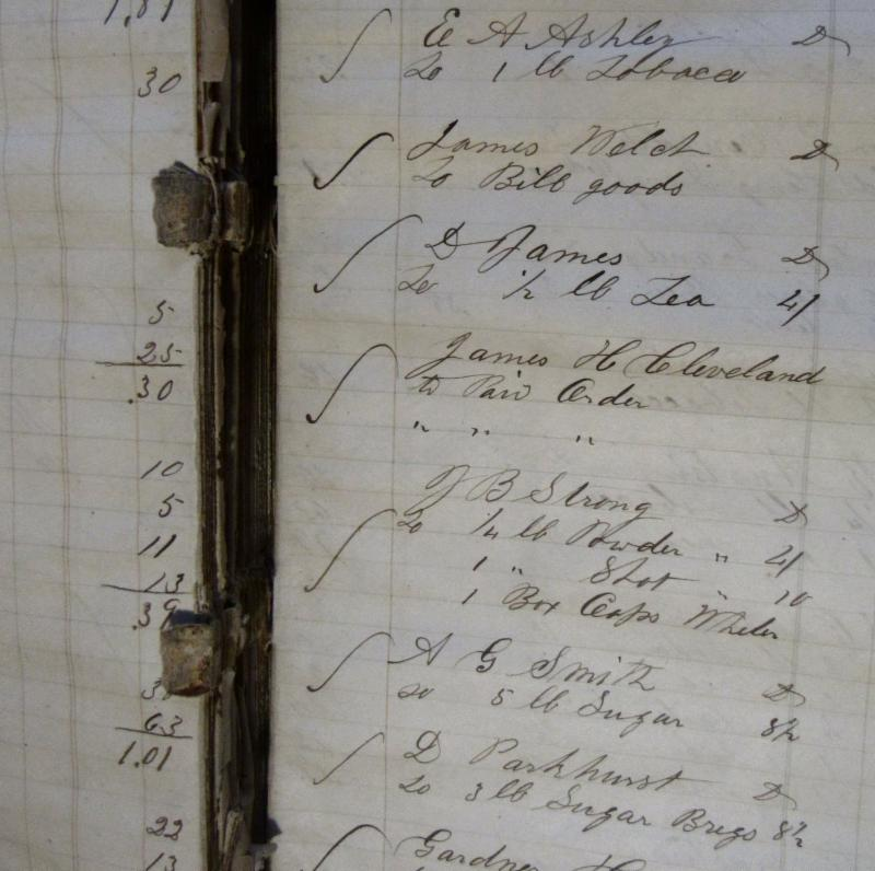 Mainesburg Store Ledger Page 1860