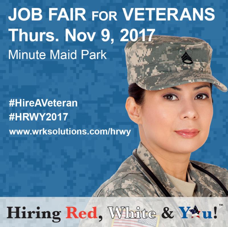 Job Fair For Veterans Thurs. Nov 9, 2017