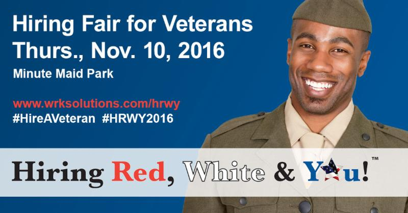 Hiring Fair for Veterans - Thurs., Nov. 10, 2016