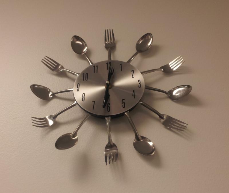 Silverware Clock