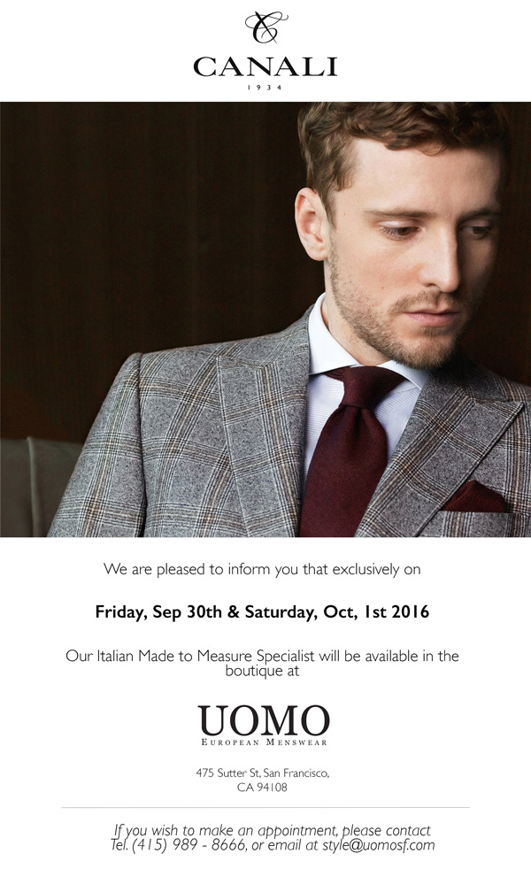 8e3a7962a48efb Canali Fall 2016 Trunk Show at Uomo San Francisco