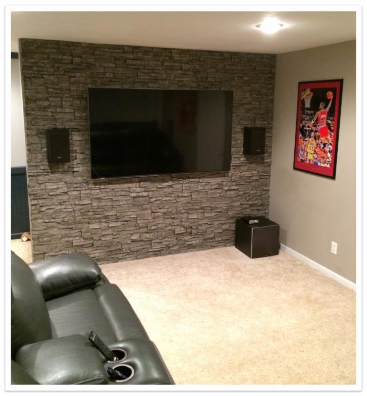 Basement accent wall