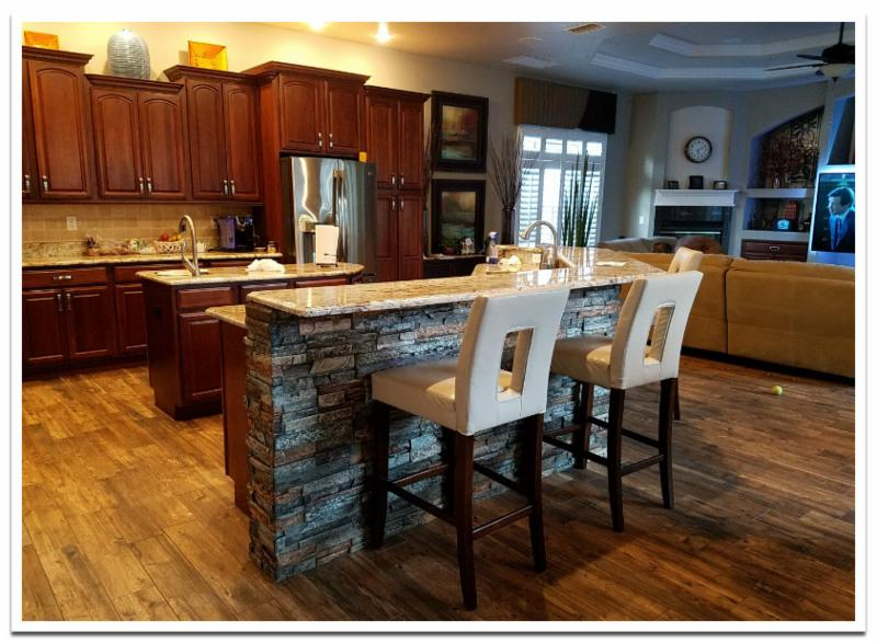 Kitchen island with Wellington Dry Stack