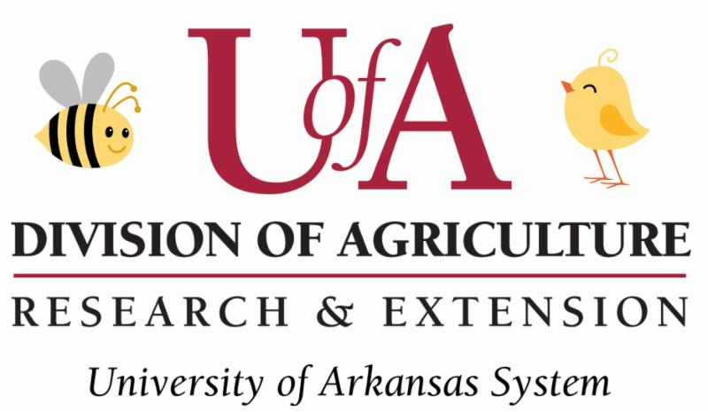 UA division of agriculture logo with a bee and chick illustration