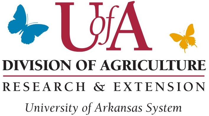 UA Division of Agriculture Research and Extension Univerisity of arkansas system logo with butterflies