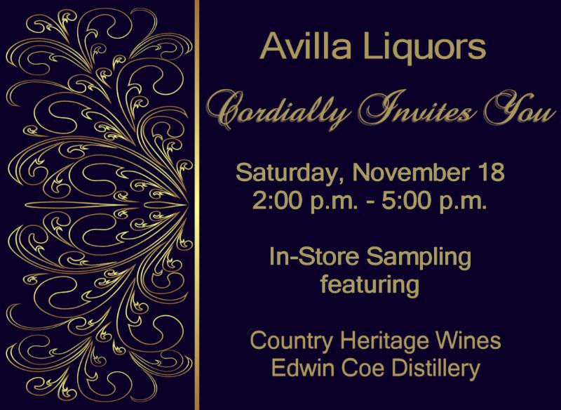 Avilla Liquors Sampling