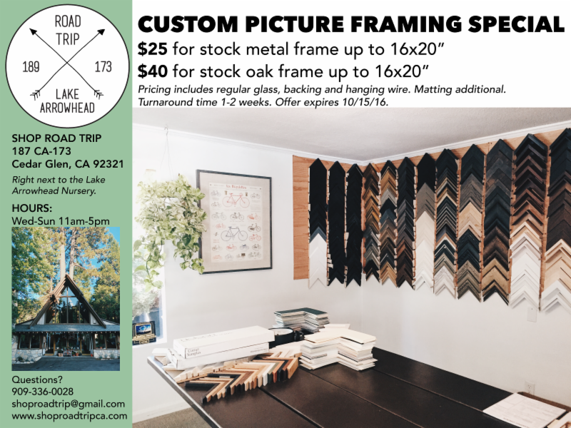 Shop Road Trip For Custom Picture Framing - Special Pricing For A ...