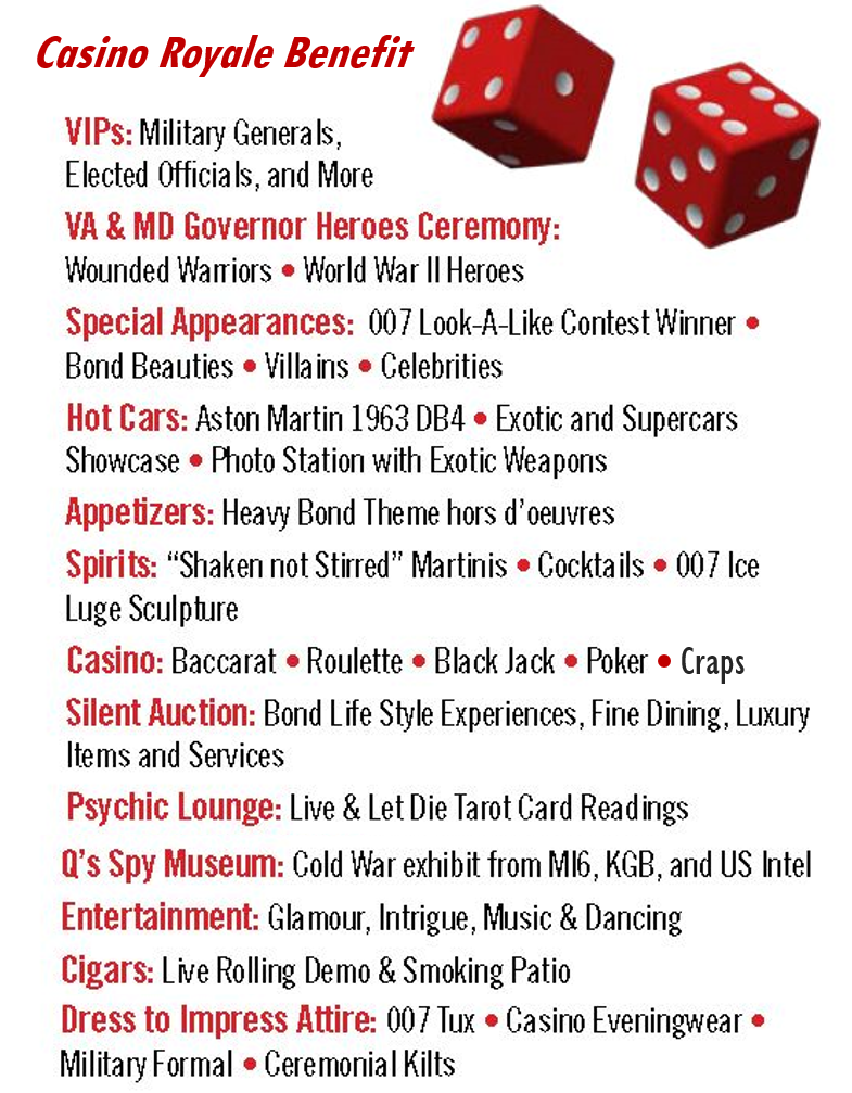 Casino Royale Benefit List