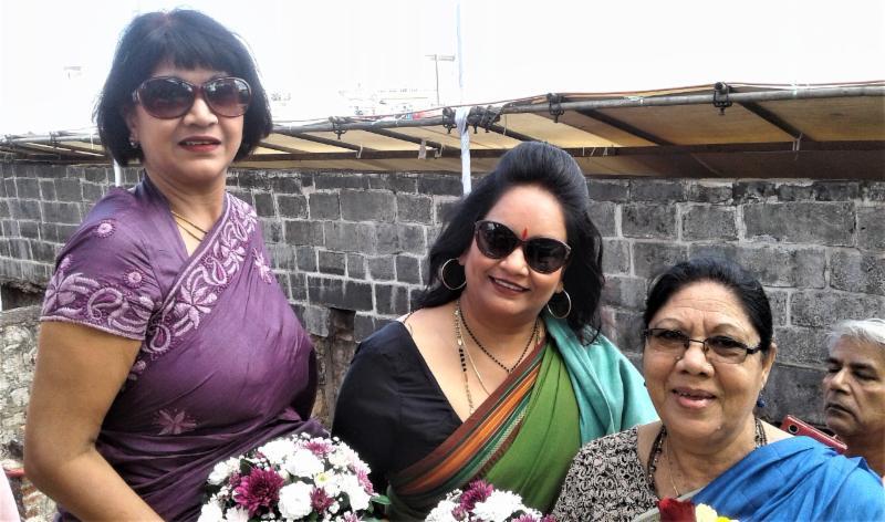 GOPIO Triolet  N.Mauritius officials at Aapravasi Ghat