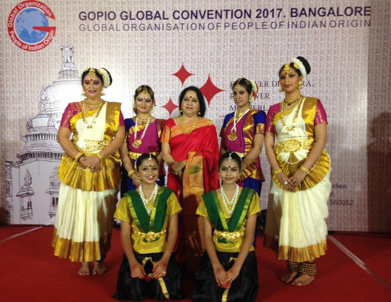 Cultural program coordinator Sreedevi Unni, Director of Monisha Arts at GOPIO Convention