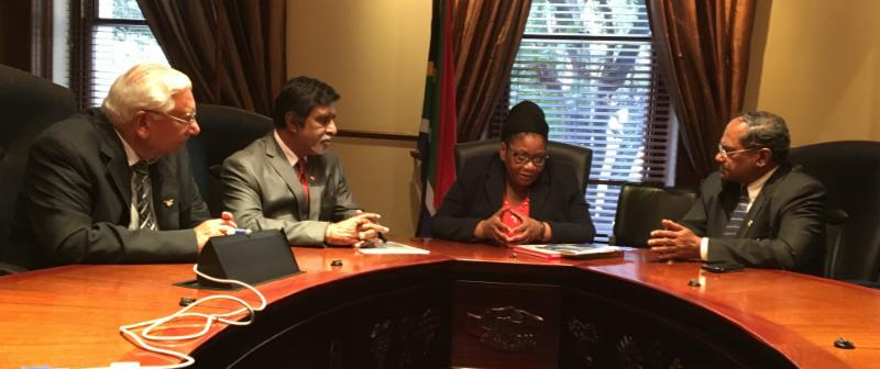 GOPIO delegaiton Meeting with SA National Council of Provinces Chair Thandi Modise