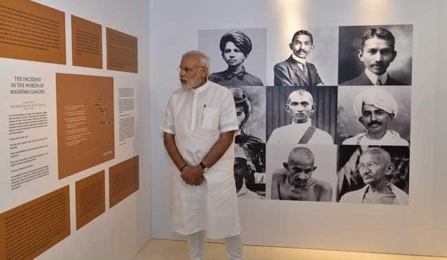 Prime Minsiter Modi at the Pravasi Bhavan
