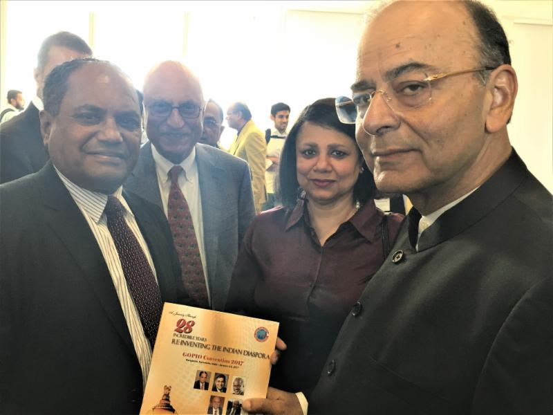 GOPIO officials with Minister Arun Jaitley
