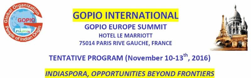 GOPIO European Convention Invitation